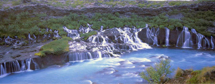 Iceland - Hraunfoss Waterfall - Courtesy of Iceland Travel