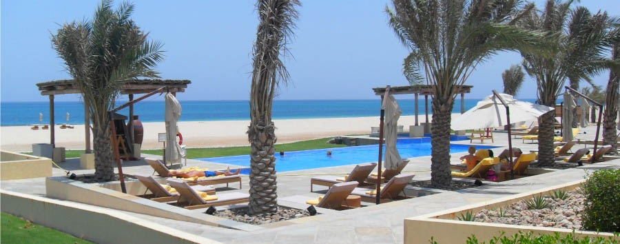 Anantara Sir Bani Yas Island Al Yamm Villa Resort - Pool Area with sea view