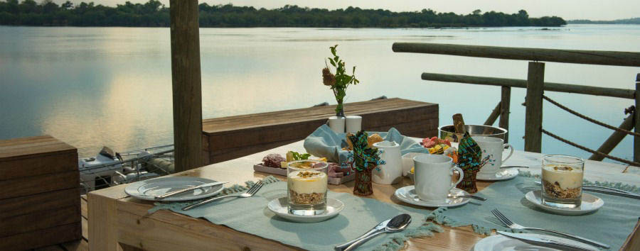 Victoria+Falls+River+Lodge+-+Breakfast+on+The+Jetty