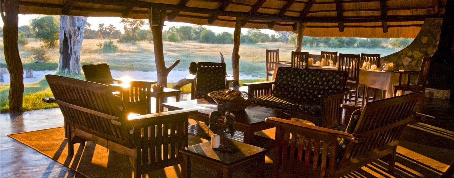Bomani+Tented+Lodge+-+Main+Lodge+in+The+Evening