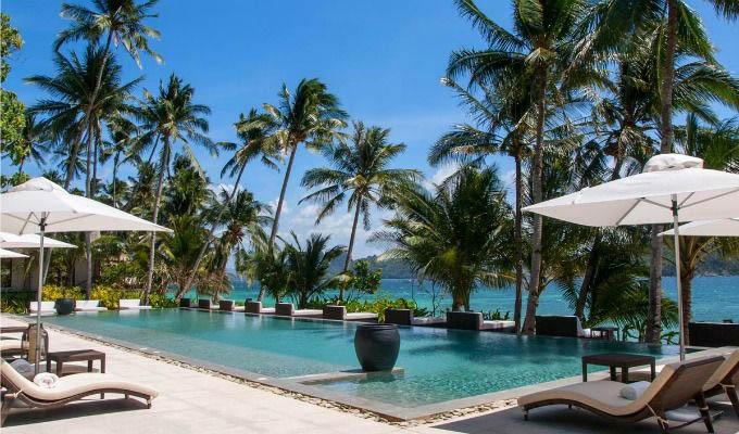 Palawan, El Nido Pangulasian Island Resort, Pool Area - Philippines