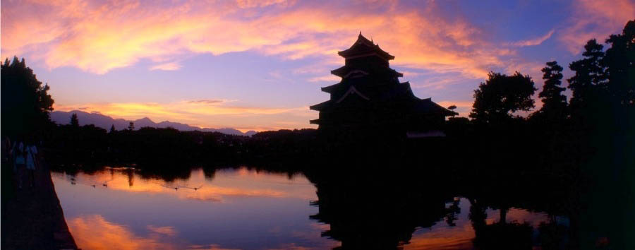 Giappone feudale - Japan Sunset in Matsumoto
