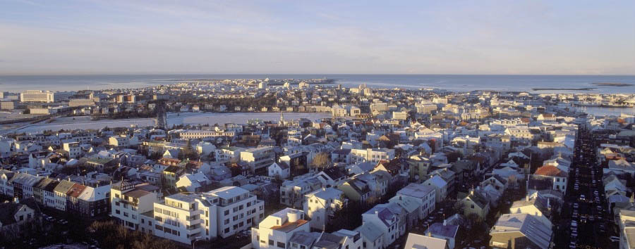 La vita segreta di Walter Mitty - Iceland Reykjavik, Aerial View - Courtesy of Iceland Travel