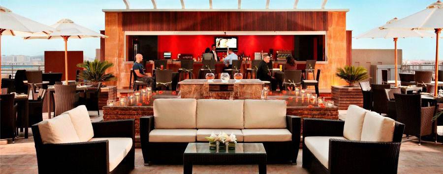 Shopping & Beach - Dubai Media Rotana, The Terrace Lounge Bar