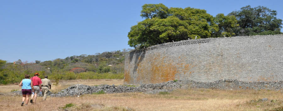 Zimbabwe - Great Zimbabwe, exterior wall of the Great Enclosure