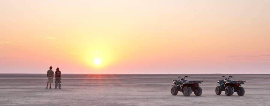 Camp Kalahari - Quad biking on the pans