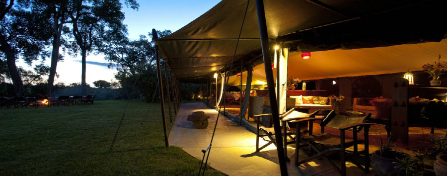 Sala's Camp - Tent by Night