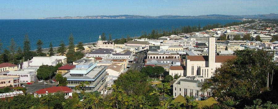 Fascinating New Zealand - New Zealand Napier, Panorama © Robyn Gallagher