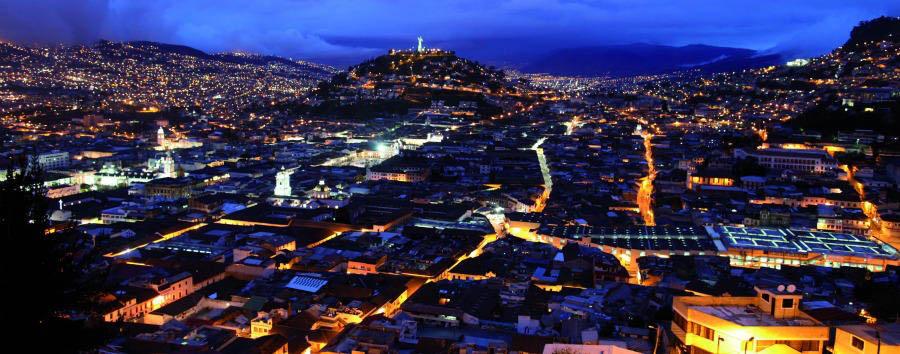 Lo Mejor de Ecuador - Ecuador Quito, Aerial View by Night