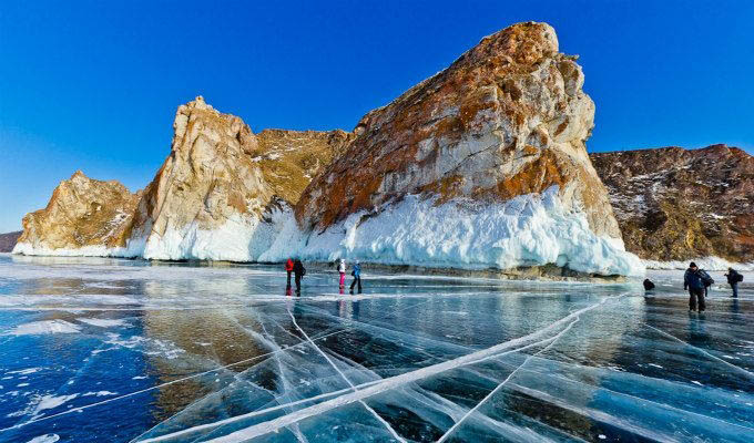 Lake in Winter - Lake Baikal