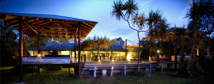 Bamurru+Plains+-+Deck+and+Pool+at+Evening+%C2%A9+Luxury+Lodges+of+Australia