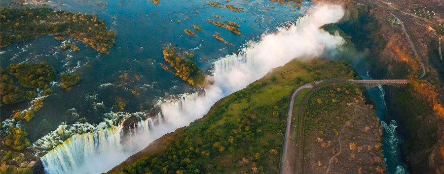 Botswana Untouched - Zimbabwe Victoria Falls, Aerial View