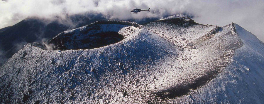 Pacific Time - New Zealand Huka Lodge, Helicopter Rides over Mt. Ngauruhoe