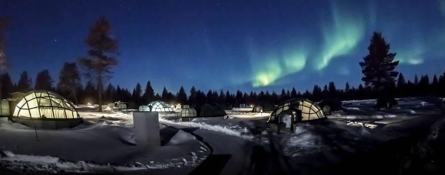 Finlandia: alla scoperta della Lapponia - Finland Aurora Borealis above Glass Igloos