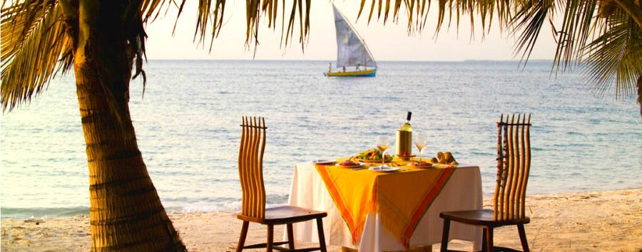 Mozambique - &Beyond Benguerra Island, Private Dining on the Beach