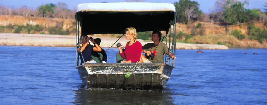 Rufiji River Camp - Boat safari on the Rufiji river