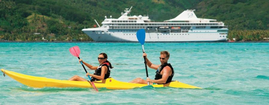 Crociera sulla Paul Gauguin - French Polynesia Kayak Excursion