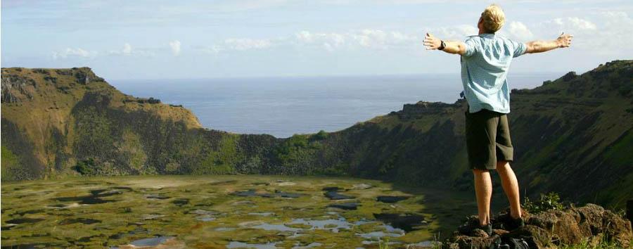 Amor Explora Rapa Nui - Easter Island Rano Kau volcano