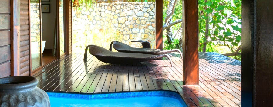 Anantara Bazaruto Island Resort & Spa - Beach Pool Villa deck and plunge pool
