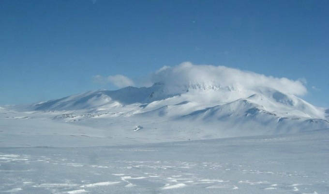 Snaefell Volcano in Winter - Iceland