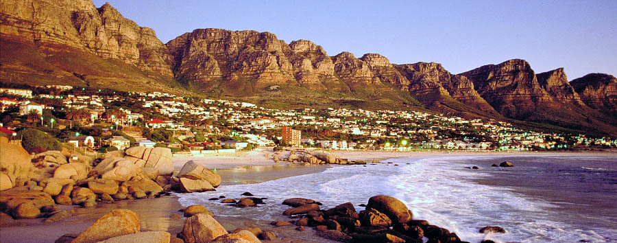 Explorer South Africa - South Africa Western Cape: Camps Bay at sunset