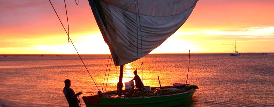 Mozambique - &Beyond Benguerra Island, Dhow at sunset