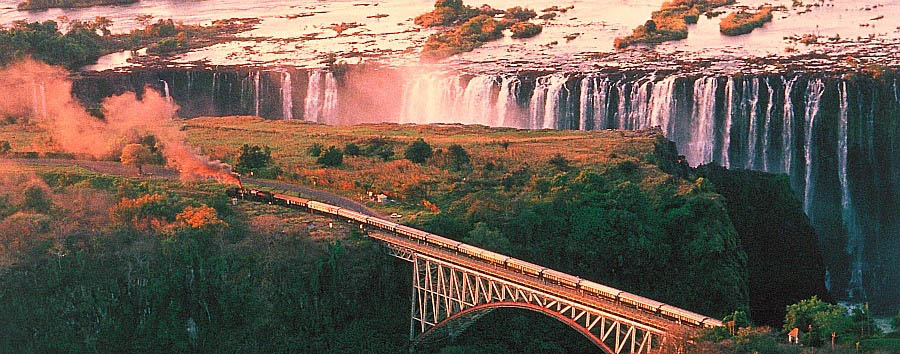 Rovos Rail, Victoria Falls journey - South Africa Rovos Rail and Victoria Falls Aerial View