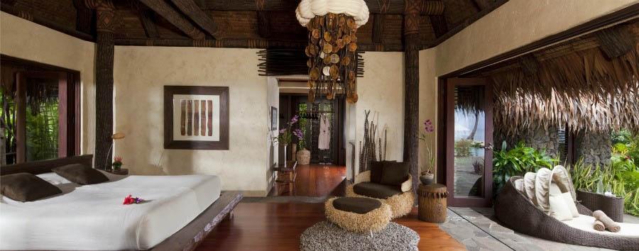 Fiji, mare a Laucala Island - Fiji Laucala Island Resort, Plantation Villa Bedroom