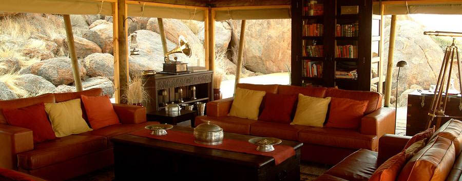 Wolwedans Boulders Camp - Lounge