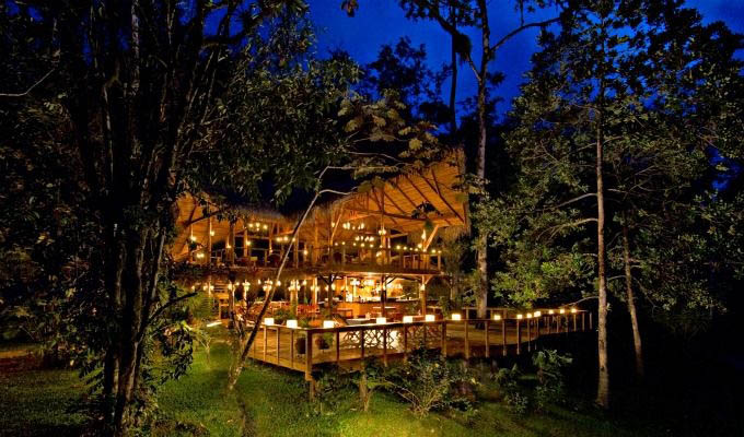 Pacuare Lodge, Main Building at Night - Costa Rica