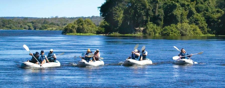 Royal Chundu - Canoeing along the Zambezi River
