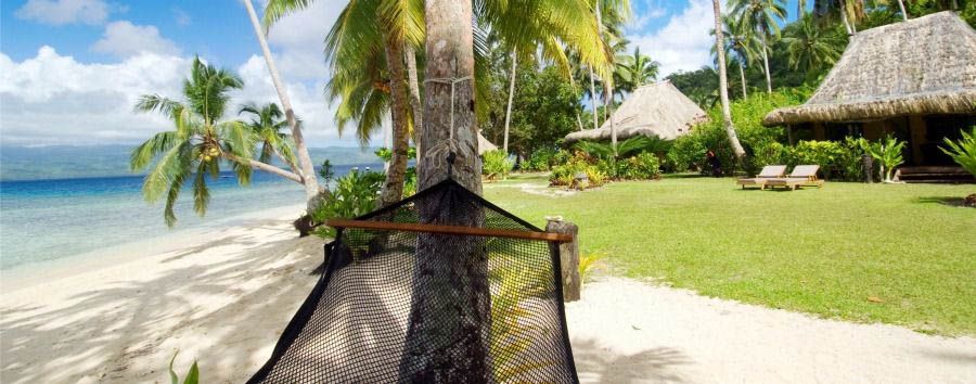 Fiji, mare a Qamea Island - Fiji Qamea Resort & Spa, Hammock on The Beach