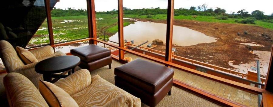 Kenya Highlights - Kenya The Ark viewing deck at Aberdares National Park