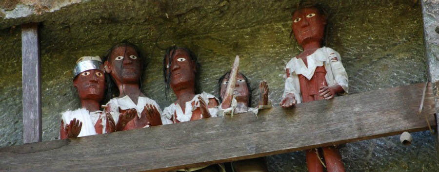 Indonesia - Puppets at Lemo Graveyard