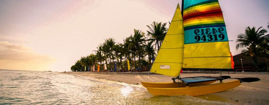 Culture & Lifestyle - Philippines Bohol Beach Club, Beach and Hobie Cat © Alan Sevilla