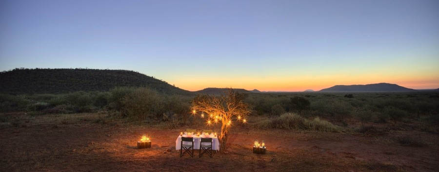 Safari e Quilalea - South Africa Bush Dinner in The Madikwe Game Reserve