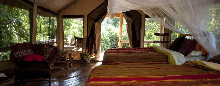 Primate Lodge Kibale - Tent interior