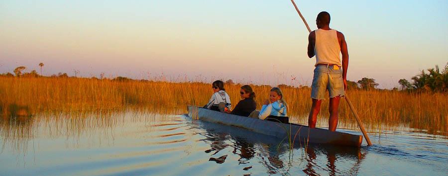 Africa, dal Capo alle Victoria Falls - Botswana Mokoro  trip in the Okavango Delta