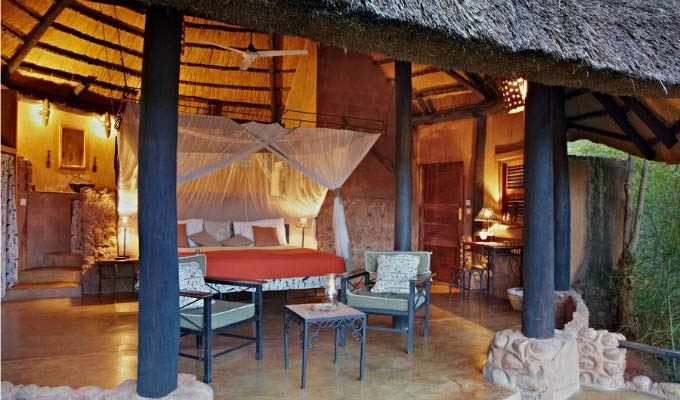 Stanley Safari Lodge, chalet bedroom - Zambia