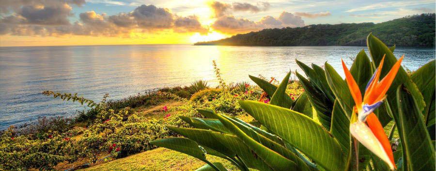 Fiji, mare a Wakaya Island - Fiji Wakaya Island, Sunset in Homestead Bay