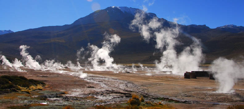 Mosaico cileno: Deserto di Atacama - Chile Atacama Desert: El Tatio geyser