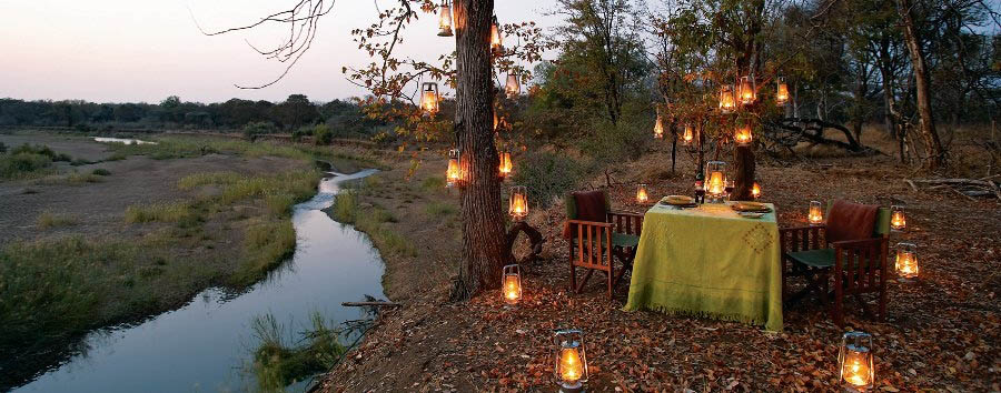 Singita Pamushana - Dinner in the bush