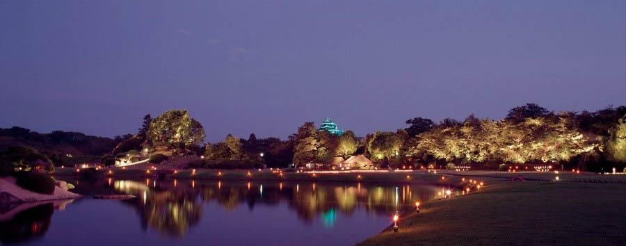 Il Giappone Insolito - Japan Okayama, Korakuen Gardens at Night